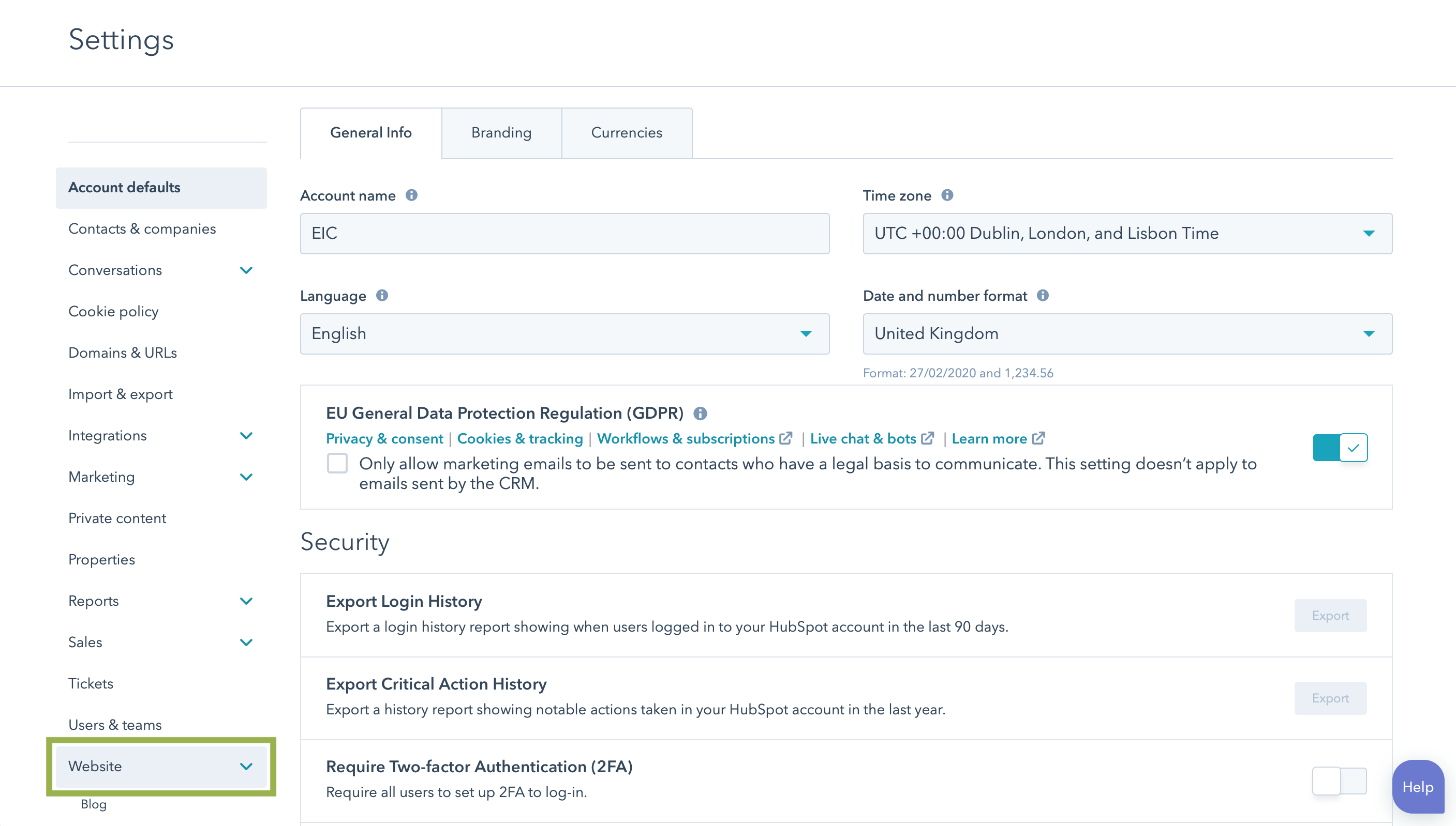 hubspot-portal-settings-website