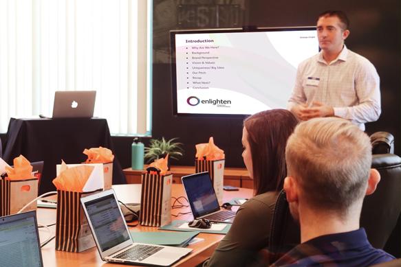Presenting the strategy development